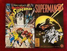 Dc The Legacy Of Superman #1 &Superman The 10c Adventure #1 Lot Of 2 Comics 1993
