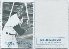 1969 Topps Deckle Edge #31 - Willie McCovey San Francisco Giants Near Mint/Mint