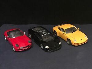 1/24th DIE CAST MODELS. PORSCHE 911,BMW Z8 ROADSTER, VW NARDO V12 SHOW CAR