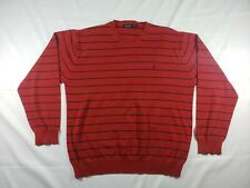 nautica red sweater navy blue stripes mens size 3xl,100% cotton good condition