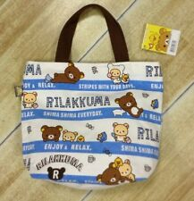 Rilakkuma san-x navy bear handbag tote lunch bag storage bags L167  tote