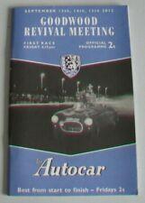 GOODWOOD REVIVAL OFFICIAL RACECARD 2013