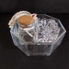 3 objets coupelle bougeoir flacon en verre art-déco art nouveau France