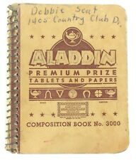 "Vintage Small Tiny Spiral Bound Aladdin Premium Prize Notebook No. 3000 2x2.75"""