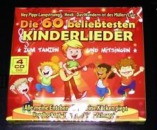The 60 Most Popular Children's Songs To Dance Und Sing 4 CD Digipak Edition NEW