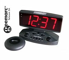 Geemarc Wake 'N' Shake Large Display Vibrating Alarm Clock Partial Deaf & Blind