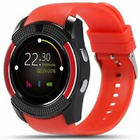 New Touch Screen Smart Watch Fitness Tracker with Camera Mic SIM SD Card Slot