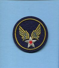 US AAC ARMY AIR CORPS WW2 HAND MADE BULLION USAF Squadron Uniform Shoulder Patch