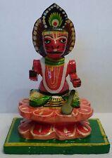 "Beautiful Hand Painted Wood Lord Hanuman Hindu God Statue 3"""