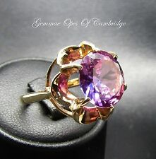 9ct Gold 5.5ct Created Alexandrite Solitaire Ring Size K 1/2 5.1g