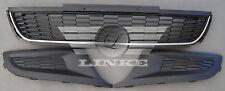 FRONT BUMPER GRILLE  VW POLO (6R) - 09/09-09/14 set - 3 parts black/chromee