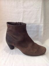 Ecco Brown Ankle Leather Boots Size 38