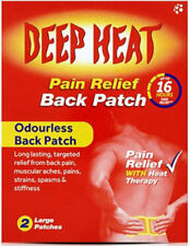 Deep Heat sollievo dal dolore schiena Patch 2 patch di grandi dimensioni