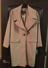 Badgley Mischka Womens Verona Wool blend Coat sz Small Nude Camel NEW