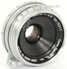 CANON 28mm 1:2.8 WIDE-Angle Rangefinder Lens in Leica LTM Canon REID L39 Screw