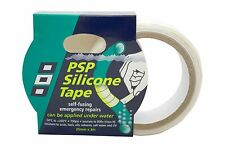 PSP SILICONE EMERGENCY TAPE  SELF-FUSING WHITE  25mm x 3M  401878