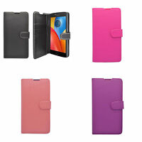 Case For Motorola C Plus Wallet Flip PU Leather Stand Card Slot Pouch Cover