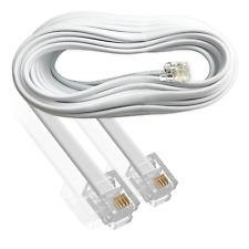 RJ11 Cable 20m / Long Metre / ADSL Broadband Modem Router Telephone / White