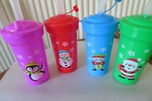 Christmas Snow Friends Tumbler / Beakers Personalised - HAND WASH ONLY
