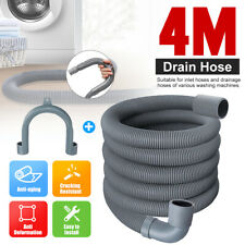 US Universal Washing Machine Dishwasher Drain Waste Hose Extension Pipe Kit 4M