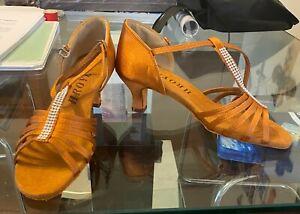 HROYL Women's Satin Dance Shoes Ballroom Salsa/Tango Shoes NEW SZ 9