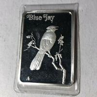 Hamilton Mint, Birds of America Blue Jay Silver Art Bar