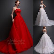 Net Robe de mariée avec dentelle appliqués wedding dress Taille34 36 38 40 42 44