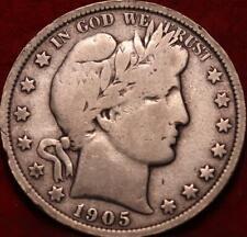 1905-O New Orleans Mint Silver Barber Half Dollar