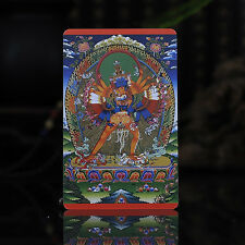 Tibet Tibetan Buddhism  Exquisite painting Amulet thangka Kalacakra  A3