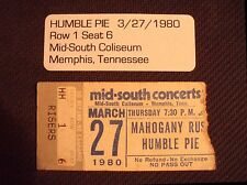 HUMBLE PIE Ticket Stub 3-27-1980~w MAHOGANY RUSH-Mid-South Coliseum, MEMPHIS,TN