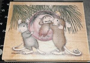 House mouse, funny face, stampabilities,B50,wooden, rubber stamp