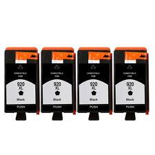 4 Black Ink Cartridge Unbrand Fits hp 920XL Officejet 7000A 7500A E609a 6500A
