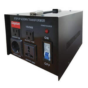 DAYTON 16V988 Step Up/Down Voltage Converter, 3kVA