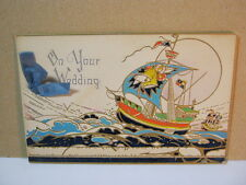 Antique On Your Wedding Card With Tall Ship   T*