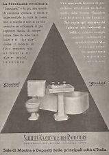 W9687 Apparecchi Sanitari STANDARD - Pubblicità del 1936 - Old advertising