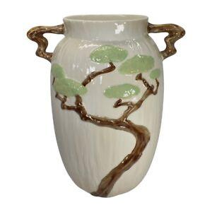 Roseville Pottery Ming Tree 1949 White Mid Century Modern Vase 586-15