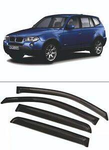 For BMW X3 (E83) 2003-2010 Window Visors Sun Rain Guard Vent Deflectors