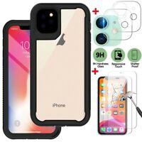 For Apple iPhone 12 Pro Max/12 Pro/12 Case Cover+Tempered Glass+Lens Protector