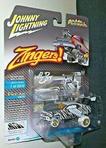 JOHNNY LIGHTNING 2021 ZINGERS 2011 CHEVY CAMARO WILD CAT WHITE LIGHTNING RARE!