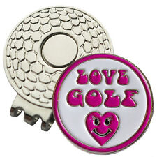 1 x New Magnetic Hat Clip + Love Golf Ball Marker -  For Golf Hat or Visor