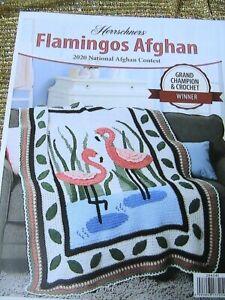 FLAMINGOs AFGHAN~Herrschners National Contest 2020 Afghan Contest Winner pattern