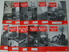 RAILWAY WORLD 1953  Magazine run complete in 12 issues