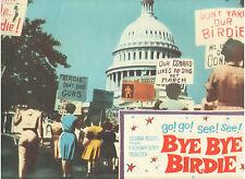 BYE BYE BIRDIE ANN MARGRET WHITE HOUSE DRAFT PROTEST RALLY ORIGINAL LOBBY CARD