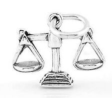 STERLING SILVER LAW SCALES OF JUSTICE 3D CHARM PENDANT