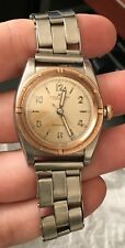 Rolex Vintage Antique Pink Gold/Steel Bubbleback Screw down Crown Original Dial