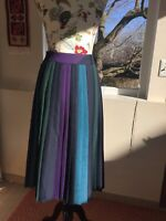 Vintage Pleated Wool Skirt Made In West Germany Size 44