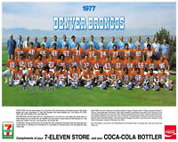 NFL 1977 Denver Broncos Team Picture Color with Names 8 X 10 Photo Picture