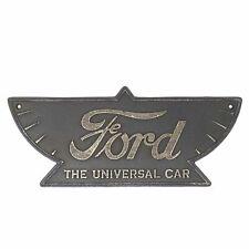Ford Auto Cast Iron Plaque Sign Decor Automotive Garage Shop Man Cave Antique
