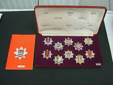 More details for london fire brigade historic badges - limited edition set # 0939. c 1978