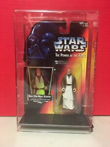 Star Wars Power Of The Force Ben Obi-Wan Kenobi Action Figure Acrylic Case 1995